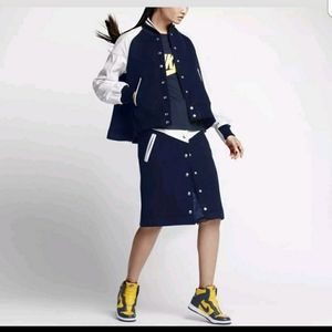 NIKE LAB x SACAI NWT navy wool skirt